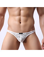 Men's Sexy Lace Solid G-string Underwear,Polyester