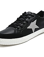 Men's Shoes Rubber Fall Comfort Sneakers Lace-up For Outdoor White/Green Black/White Red Black