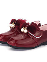 Girls' Shoes Patent Leather Fall Winter Comfort Flats For Casual Green Red Black