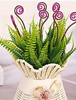 28cm 4 Pcs 7 Branches/pc Home Decoration Artificial Green Plants Hippocmpus Grass