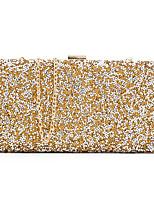 Damen Taschen Ganzjährig Polyester Abendtasche Pailletten für Hochzeit Veranstaltung / Fest Gold Schwarz Silber Black Grey Schwarz/weiss