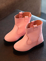 Girls' Shoes Leatherette Spring Fall Comfort Boots Booties/Ankle Boots For Casual Blushing Pink Red Black