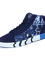 Men's Shoes Canvas Spring Fall Light Soles Sneakers For Casual Dark Blue Black White
