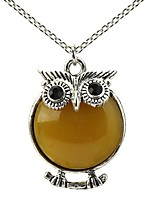 Women's Pendant Necklaces Round Owl Resin Alloy Geometric Cute Style Jewelry For Daily Casual
