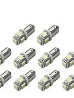 10pcs ba9s 5050smd 5 branco cor carro bulbo lâmpada carro eletrônicos acessórios largura lâmpada dc12v