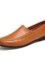 Homme Chaussures Cuir Nappa Printemps Automne Confort Mocassins et Chaussons+D6148 Pour Décontracté Soirée & Evénement Blanc Noir Jaune