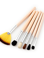 6pcs Pink Makeup Brush Set Synthetic Hair Face/Makeup Tool for Eye Face Makeup/Pink Powder/Foundation/Concealer/Blush/Shadow/Eyeliner/Lip/Brow