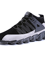Men's Shoes Suede Summer Fall Comfort Light Soles Sneakers Lace-up For Casual Outdoor Almond Gray Black