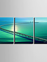 Three Panels Canvas Vertical Print Wall Decor For Home Decoration