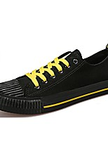 Men's Shoes Fabric Spring Fall Comfort Sneakers Lace-up For Casual Black White