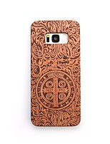 Case For Samsung Galaxy S8 Plus S8 Shockproof Embossed Back Cover Punk Hard Wooden for S8 S8 Plus