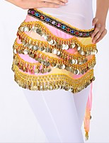 Belly Dance Hip Scarves Women's Performance Linen Sequin Sequin Hip Scarf