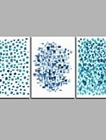 Peint à la main Abstrait Artistique Abstrait Anniversaire Moderne/Contemporain Bureau / Affaires Cool Noël Nouvel An Trois Panneaux Toile