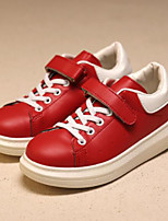 Girls' Shoes PU Winter Comfort Sneakers For Casual Red White
