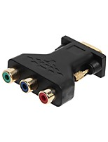 cwxuan 15 pin vga male to 3 rca female componet rgb adapter connecter converter