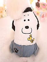 Dog Coat Pants Dog Clothes Keep Warm New Year's Cartoon White Costume For Pets