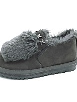 Women's Shoes Suede Winter Snow Boots Boots Flat Heel Round Toe For Casual Party & Evening Gray Beige Black