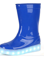 Girls' Shoes Patent Leather Fall Winter Comfort Rain Boots Boots For Casual Blue Red
