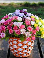 22см 3 шт. 7 филиалов / шт. Украшение для дома искусственные цветы разноцветные розы