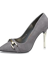 Women's Shoes Leatherette Spring Fall Comfort Heels Stiletto Heel Pointed Toe For Dress Khaki Red Gray Black