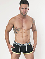 Men's Sports Solid Boxers Underwear,Cotton