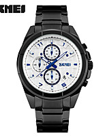 SKMEI Men's Sport Watch Fashion Watch Wrist watch Quartz Stainless Steel Band Black