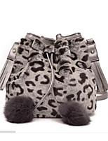 Women Bags Fur Shoulder Bag Zipper for Casual Winter Gray