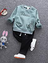 Ensembles Fille Imprimé Coton Hiver Ensemble de Vêtements
