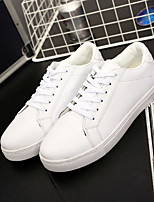 Men's Shoes PU Fall Comfort Sneakers for Casual White Black