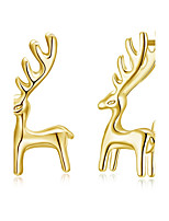Women's Stud Earrings Silver Plated Alloy Geometric Giraffe Jewelry For Party Christmas