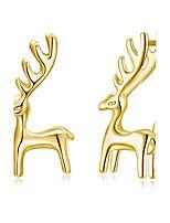 Жен. Серьги-гвоздики Серебрянное покрытие Сплав Геометрической формы Жираф Бижутерия Назначение Для вечеринок Рождество