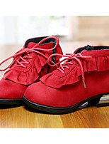 Girls' Shoes Leatherette Fall Winter Comfort Snow Boots Boots For Casual Red Black