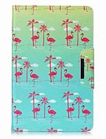 carteira de cartão de padrão de flamingo com bolsa de couro magnética de suporte flip para samsung galaxy tab e 9.6 t560 t561 tablet de