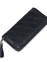 Women Bags PU Wallet Ruffles for Shopping Casual All Seasons Black Blushing Pink Gray