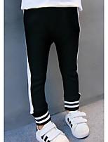 Pantalons Fille A Rayures Coton Automne