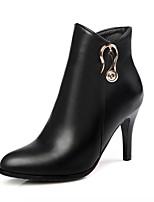 Mujer Zapatos Semicuero PU Otoño Invierno Confort Innovador Botas hasta el Tobillo Botas Tacón Stiletto Dedo Puntiagudo Botines/Hasta el