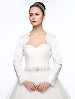 Satin Wedding Party / Evening Women's Wrap With Applique Beading Shrugs