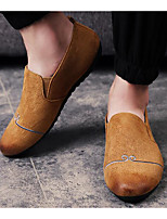 Homme Chaussures Cuir Nubuck Printemps Automne Semelles Légères Mocassins et Chaussons+D6148 Pour Décontracté Noir Gris Kaki