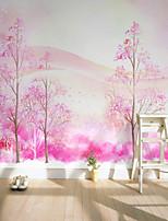 arbres/Feuilles Motif 3D Fond d'écran pour la maison Rustique Revêtement , Toile Matériel adhésif requis fond d'écran , Couvre Mur