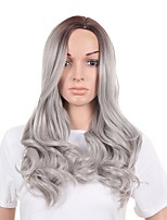Women Synthetic Wig Capless Long Body Wave Grey Natural Wigs Costume Wig