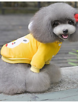 Dog Hoodie Dog Clothes Casual/Daily Cartoon Blushing Pink Blue Green Yellow