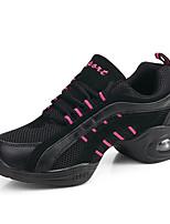 Women's Dance Sneakers Tulle Sneaker Practice Flat Heel Black Blue/White Pink/White Red/White 1