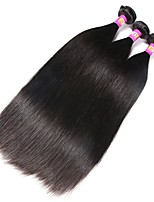 3 Pieces Natural Black Straight Indian Human Hair Weaves Hair Extensions