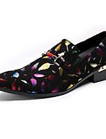 Hombre Zapatos Cuero de Napa Primavera Otoño Zapatos formales Confort Innovador Zapatos de taco bajo y Slip-On Remache Para Boda Fiesta y