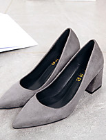 Women's Shoes Fleece Spring Fall Basic Pump Heels For Casual Wine Green Gray Black