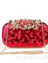 Women Bags All Seasons PU Clutch Buttons for Gold Black Red Silver