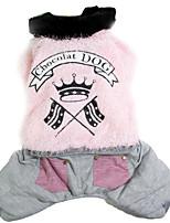 Собака Плащи Одежда для собак На каждый день Однотонный Серый Кофейный Розовый Костюм Для домашних животных