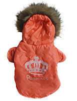Dog Coat Hoodie Dog Clothes Casual/Daily Solid Orange Costume For Pets