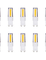 10pcs 3W G9 LED Bi-pin Lights 1 leds COB Warm White Cold White 1lm 6500/3500K AC 200-240V