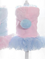 Cat Dog Dress Dog Clothes Party Casual/Daily Keep Warm Halloween Christmas Princess Blue Pink Costume For Pets